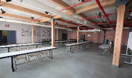This can be used for a classroom, a large conference or even as a holding area!!
